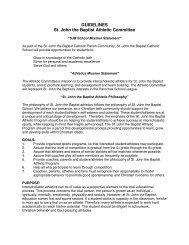 Guidelines - St. John the Baptist Catholic Church and School