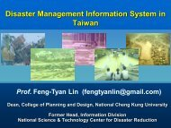 Disaster information management system in Taiwan