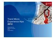 Trend Micro Experience Alps 2012