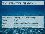 ILMU KELAUTAN UNPAD ®2011 - Blogs Unpad