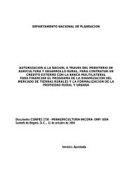 departamento nacional de planeacion autorizacion a la nacion, a ...