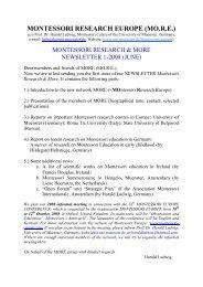 Newsletter 1-2008.pdf - Montessori Europe