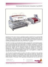 Technical data (PDF) - Pharma Test