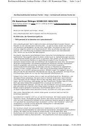 Seite 1 von 3 Rechtsanwaltskanzlei Andreas Fischer » Print » EU ...