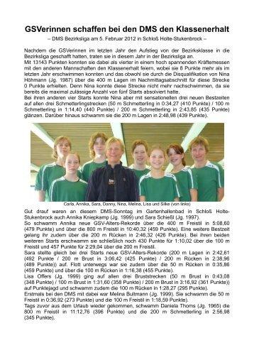 GSVerinnen schaffen bei den DMS den Klassenerhalt - gsv1906.de