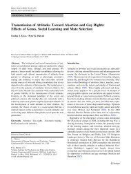 Transmission of Attitudes Toward Abortion and Gay Rights: Effects of ...