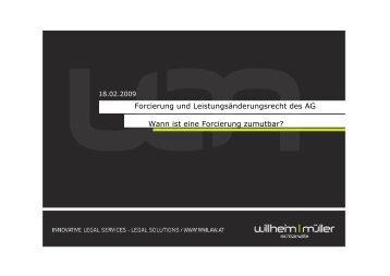 Vortrag: Forcierungs - Willheim | Müller