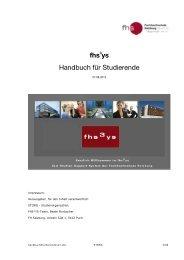fhs ys Handbuch für Studierende - FH Salzburg - Fachhochschule ...