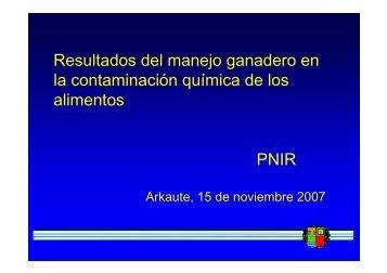 PNIR. Resultados del manejo ganadero. Salud Pública