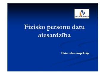 Fizisko personu datu aizsardzība - Academia
