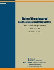 State of the uninsured - Health coverage in Washington state (PDF ...