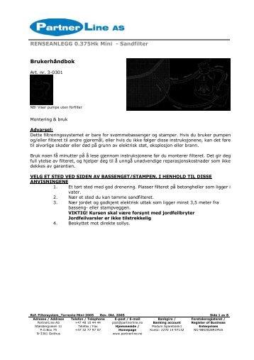 Brukerhåndbok - Partnerline AS