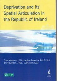 Deprivation and its Spatial Articulation Report 2002 - Pobal