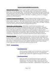 Page 1 of 4 FACULTY DEVELOPMENT ... - College of Law
