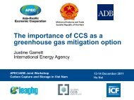 ortance of CCS as a greenhouse gas