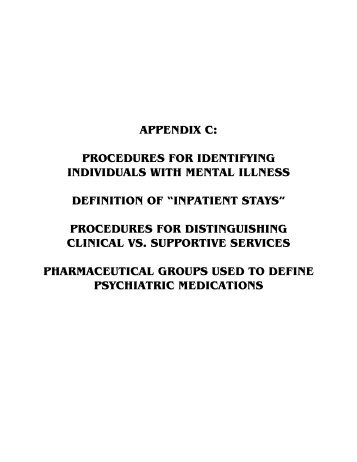 APPENDIX C: PROCEDURES FOR IDENTIFYING ... - ASPE