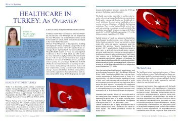 HEALTHCARE IN TURKEY: AN OVERVIEW - Syndicate of Hospitals ...