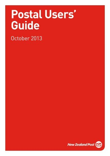 Postal Users' Guide (Kapiti) - New Zealand Post