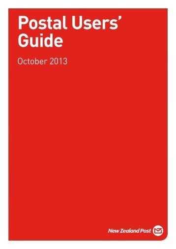 Postal Users' Guide (Kapiti) - New Zealand Post