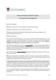 Discours prononcé le 14 juillet 2007 (pdf - 28,14 ko) - Ville de ...