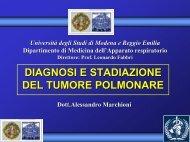 Presentazione di PowerPoint - Clinica malattie apparato respiratorio