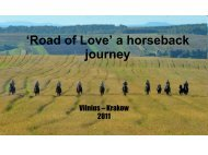 'Road of Love' a horseback journey - The Long Riders' Guild