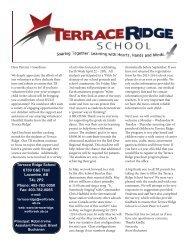 Download the newsletter - Terrace Ridge School - Wolf Creek Public ...