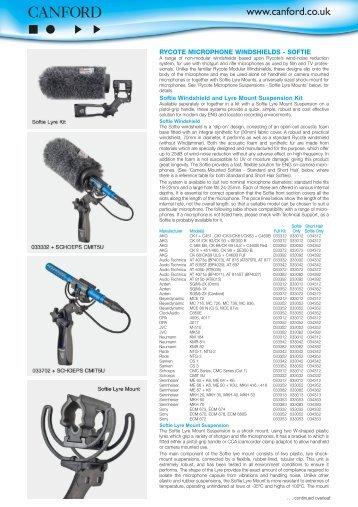 Full Description (PDF) - Canford Audio
