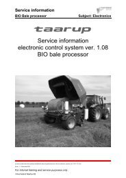 Service information BIO Bale processor Subject: Electronics
