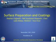 Surface Preparation and Coatings - NSRP
