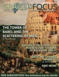 November-December 2012 Full Issue - Grace Evangelical Society