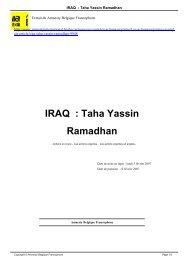 IRAQ : Taha Yassin Ramadhan - AMNESTY INTERNATIONAL.be