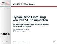 Dynamische Erstellung von PDF/A-Dokumenten
