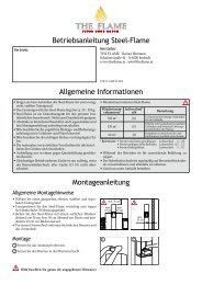 Betriebsanleitung Steel-Flame Montageanleitung Allgemeine ...