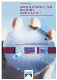 Gamme de générateurs 1 MHz ULTRASONIC MICRO CLEANING ))