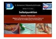 Selbstpunktion - Shunt