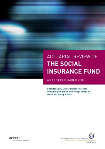 Actuarial Review of the Social Insurance Fund 2005 - Department of ...