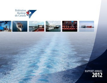 RappORT aNNUeL - The Shipping Federation of Canada