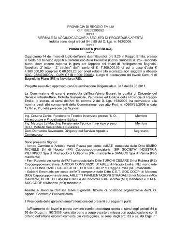 verbale definitivo ultimo - Provincia di Reggio Emilia
