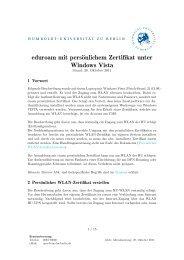 eduroam mit persönlichem Zertifikat unter Windows Vista - HU Berlin