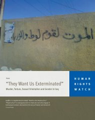 """""""They Want Us Exterminated"""" - Human Rights Watch"""