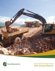 2011 Annual Report (PDF 3.91 MB) - Aura Minerals Inc.