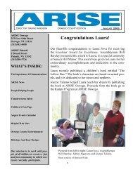 August 2006 - Arise