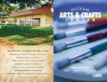 Art&Crafts Schedule April-July_2013.indd