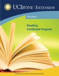 Reading Certificate Program - UC Irvine Extension - University of ...