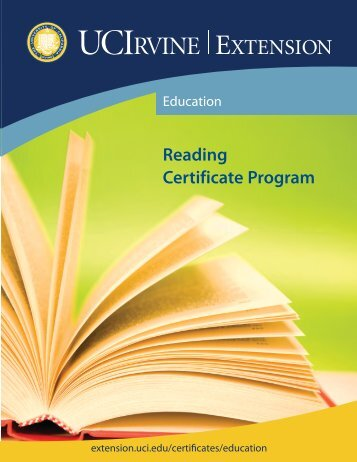 Reading Certificate Program - UC Irvine Extension - University of ...