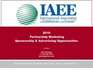 Sponsorship Opportunities - IAEE