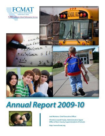 Annual Report 2009-10 - Kern County Superintendent of Schools