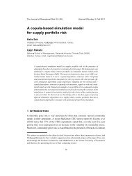 A copula-based simulation model for supply portfolio risk