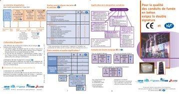 NF et CE pour la qualité des conduits de fumée en béton - Marque NF